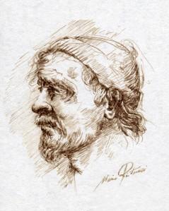 Studio per un ritratto di clochard di Mario Ritarossi (1)